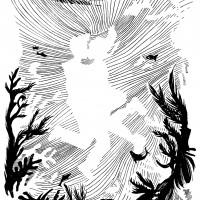 De eerste kus van Noel Callebaut. Tekening door Annelies Wylleman